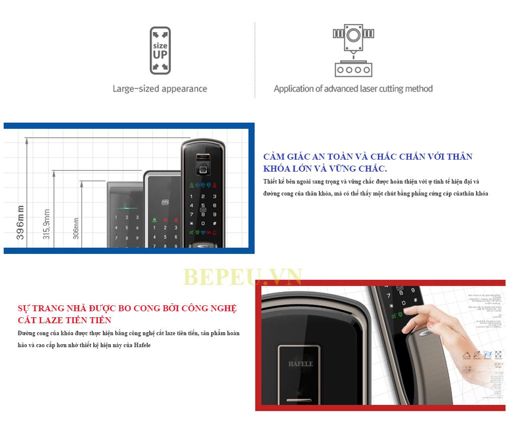 Thiết kế khóa điện tử hafele EL9500 tcs 912.05.353