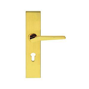 khóa cửa hafele 901.79.101 màu vàng bóng