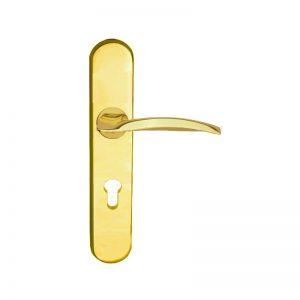 khóa cửa hafele 901.79.104 màu vàng bóng