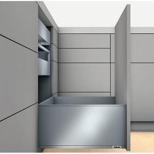 Ray hộp Blum legrabox 550.73.585 màu xám chiều cao F