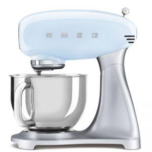 máy trộn đa năng Smeg SMF02PBEU màu xanh nhạt dòng 50's Style 535.43.608