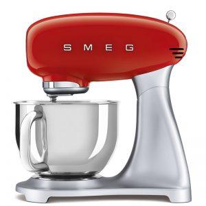 máy trộn đa năng Smeg SMF02RDEU màu đỏ dòng 50's Style 535.43.609