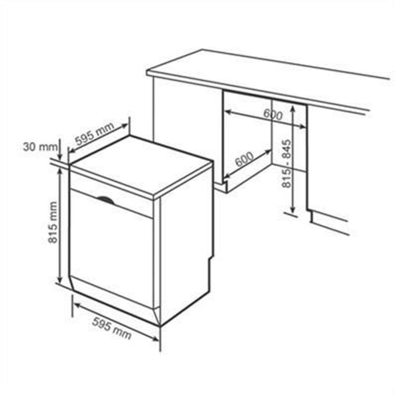 Bản vẽ Máy rửa bát Bosch SMS46MI05E