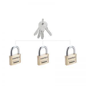 bộ khóa treo hafele 482.01.975 loại 3
