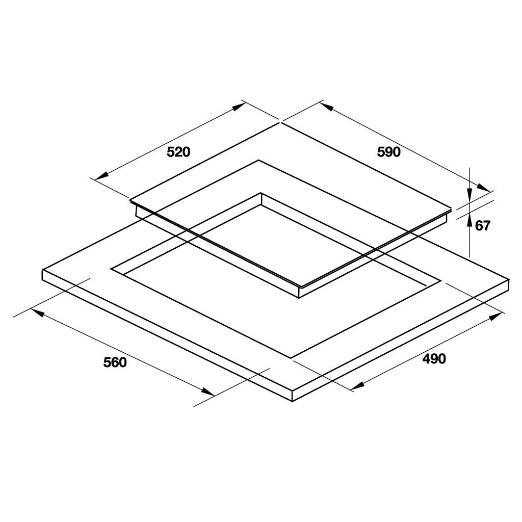Kích thước bếp điện Hafele HC-R603D 536.01.901
