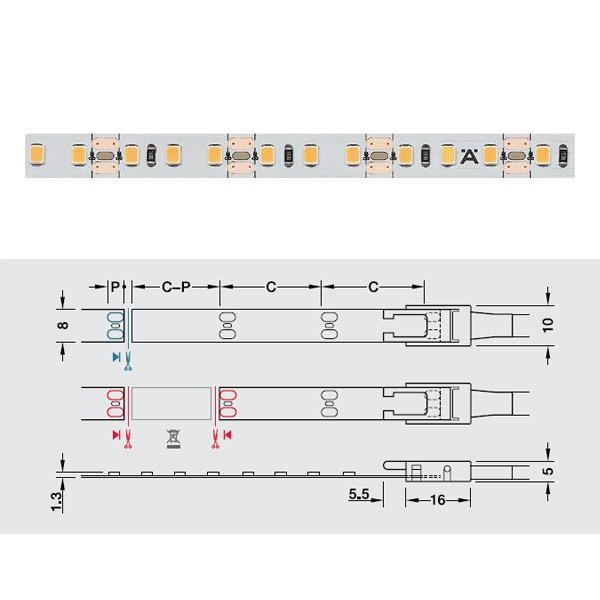 Đèn led dây Hafele 12V loox5 Led 2074