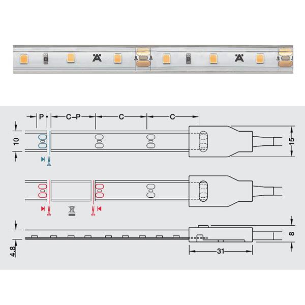 Đèn led dây Hafele 12V loox5 Led 2063