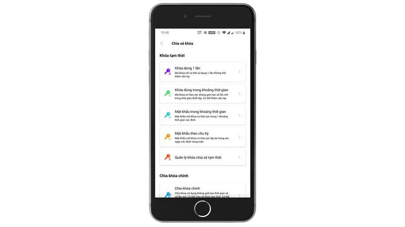 Khóa điện tử Appota tạo và gửi mã từ xa