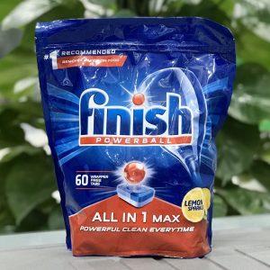 Túi viên rửa bát finish All in 1 max 60 viên