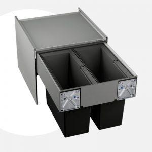 thùng rác blanco select 45/2 organ 518721