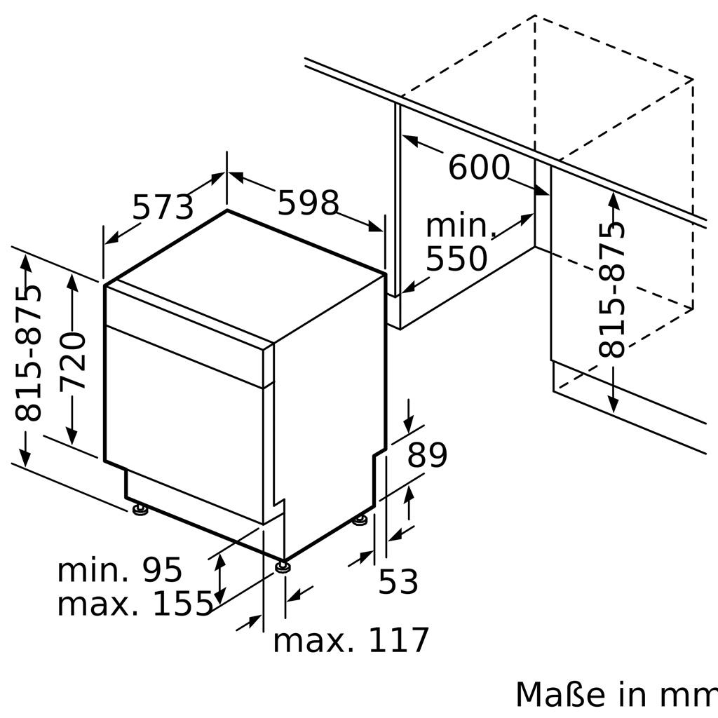 Kích thước MÁY RỬA BÁT BOSCH SMU68TS06E