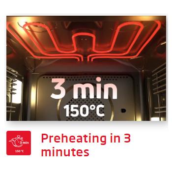 Lò nướng Fagor 8H-185BX A Pre heating in 3 minutes