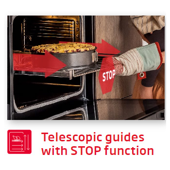 Lò nướng Fagor 8H-175AX A Telescopic Guide stop