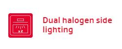 lò nướng Fagor Dual Halogen side lighting