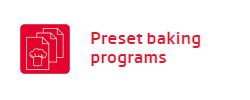 Lò nướng Fagor Preset baking programs