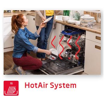 Máy rửa bát Fagor Hot Air system