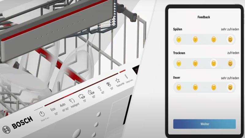 Anh máy rửa bát Bosch intelligent Programme